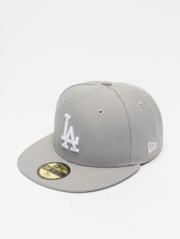 New Era Fitted Cap MLB Basic LA Dodgers 59Fifty grey