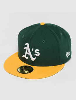New Era Fitted Cap Acperf Oakland Athletics 59Fifty grün