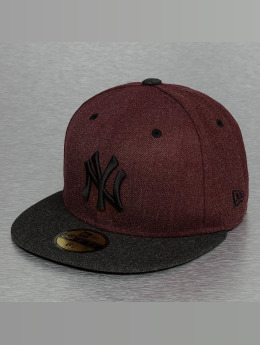 New Era Fitted Cap Heather Mashup New York Yankees rood