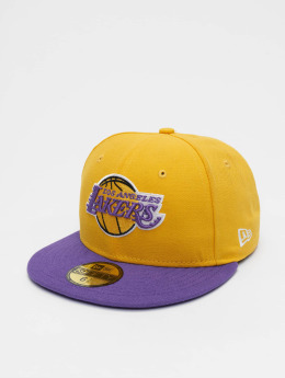 New Era Fitted Cap NBA Basic LA Lakers 59Fifty zólty