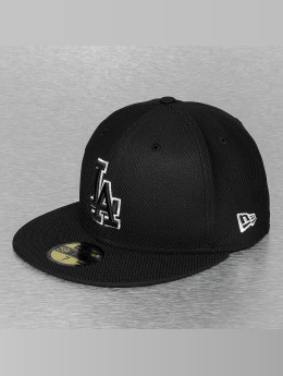 New Era Fitted Cap Tonal Diamond Era LA Dodgers zwart