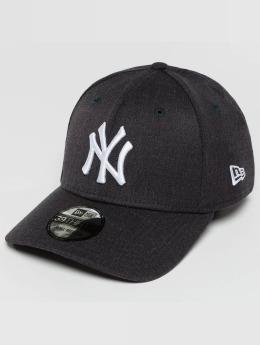 New Era Flexfitted Cap Team Heather NY Yankees blau