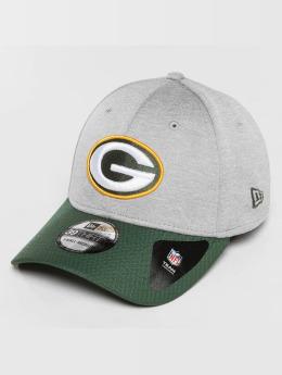 New Era Flexfitted Cap Jersey Hex Green Bay Packers grau
