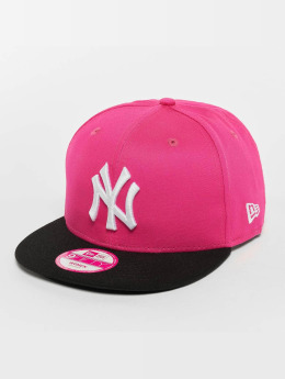 New Era Flexfitted Cap Felt Peak New York pink