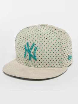 New Era Gorra plana Suede Perf NY Yankees 59Fifty gris