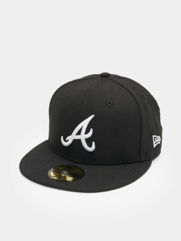 New Era Gorra plana MLB Basic Atlanta 59Fifty negro