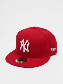 New Era Gorra plana MLB Basic NY Yankees 59Fifty rojo