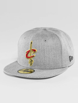 New Era Hip hop -lippikset NBA Cleveland Cavaliers Heather Fitted harmaa