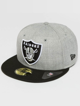 New Era Hip hop -lippikset Oakland Raiders 59Fifty harmaa