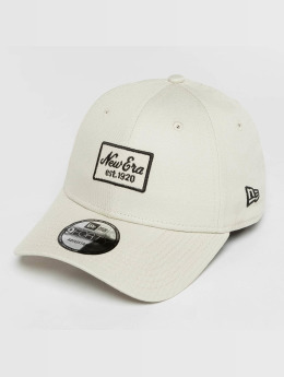 New Era snapback cap Script Patch 9Forty beige