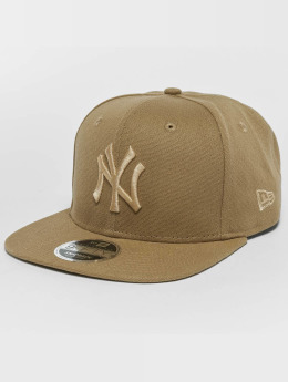 New Era Snapback Cap Canvas NY Yankees 9Fifty beige