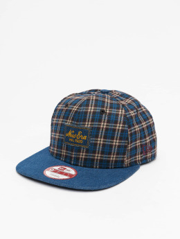 New Era Snapback Cap Denplaid 9Fifty blau