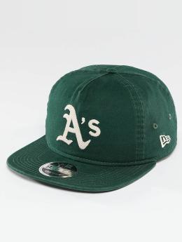 New Era Snapback Cap Chain Stitch Oakland Athletics grün