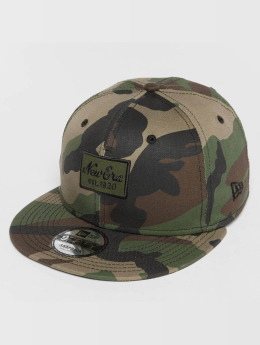 New Era Snapback Caps Script Patch 9Fifty camouflage