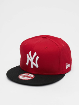 New Era MLB Cotton Block NY Yankees Snapback Cap Scarlet/Black/White