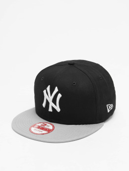 New Era MLB Cotton Block NY Yankees Snapback Cap Black/Grey/White