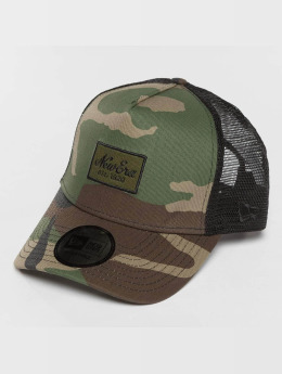 New Era Trucker Cap Script Patch camouflage
