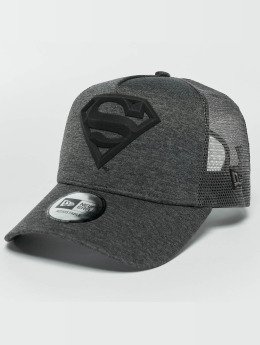 New Era Trucker Cap Concrete Jersey Superman grau