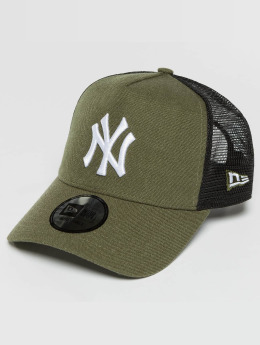 New Era Trucker Cap Seas Heather NY Yankees olive