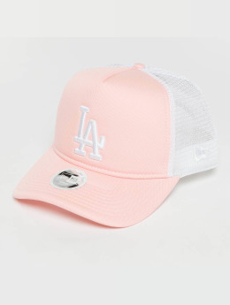 New Era Trucker Cap Womans League Essential LA Dodgers pink