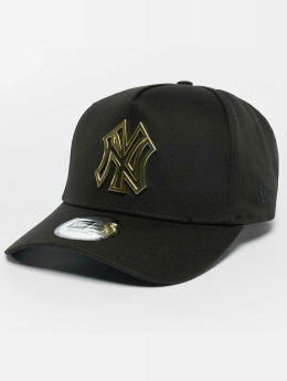 New Era Trucker Cap Metal Badge NY Yankees A-Frame schwarz