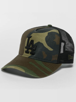 New Era Trucker Caps Washed Camo LA Dodgers camouflage