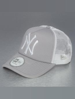 New Era Trucker Caps Clean NY Yankees grå