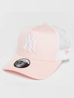 New Era Trucker Caps League Essential NY Yankees pink