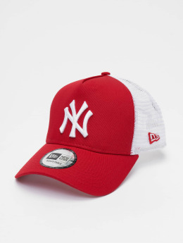 New Era Trucker Caps Clean NY Yankees red