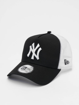 New Era Trucker Caps Clean NY Yankees svart