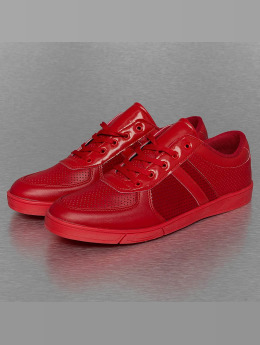 New York Style Sneakers Perforated Pattern rød