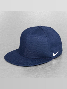 Nike Flexfitted Cap True Swoosh blau