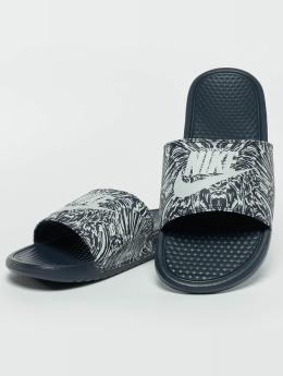 Nike Sandalen Benassi Just Do It Print Slide blau