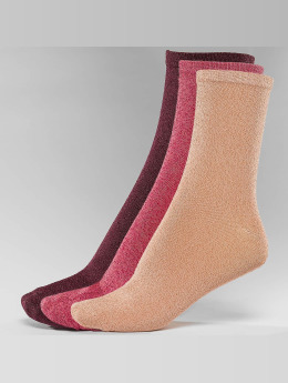 Nümph Frauen Socken Kingcity 3-Pack Glitter in bunt