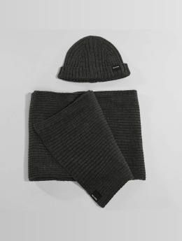 Only & Sons Pipot onsChris Beanie & Scarf harmaa