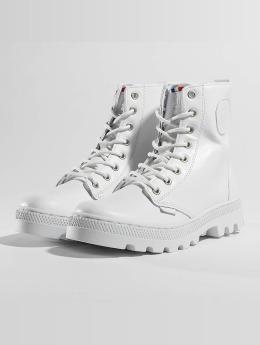 Palladium Frauen Boots Pallabosse Off Lea in weiß