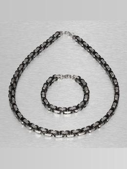 Paris Jewelry Kaulaketjut Bracelet and Necklace hopea