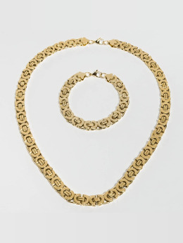 Paris Jewelry Kaulaketjut Bracelet 22cm and Necklace 60cm kullanvärinen