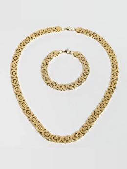Paris Jewelry Necklace Bracelet 22cm and Necklace 60cm gold colored