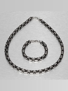 Paris Jewelry Necklace Bracelet and Necklace silver colored
