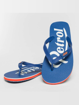 Petrol Industries Slipper/Sandaal Logo blauw