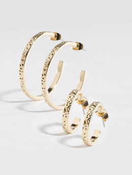 Pieces Earring pcKasta gold colored