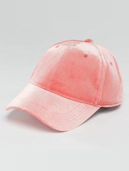 Pieces Snapback Caps pcRomina Velvet roosa