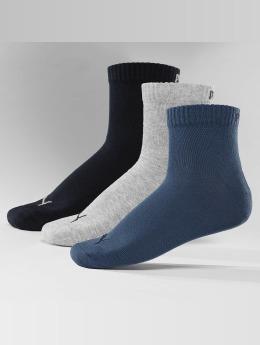 Puma Chaussettes Quarters 3 Pack bleu