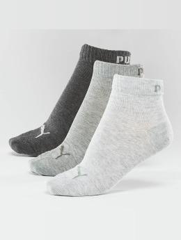 Puma Chaussettes 3-Pack Quarters gris