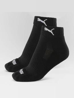 Puma Chaussettes 2-Pack Cushioned Quarters noir