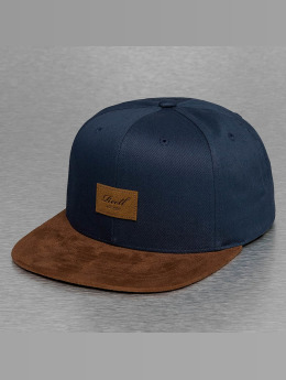 Reell Jeans Casquette Snapback & Strapback Suede bleu