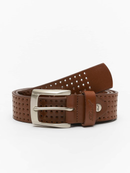Reell Jeans riem Punched bruin