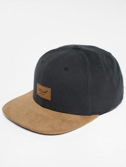 Reell Jeans Snapback Caps Suede čern