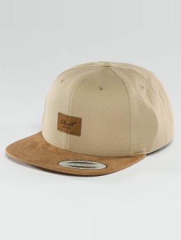 Reell Jeans Snapback Caps Suede brazowy